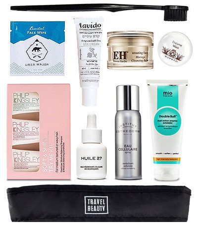 holiday gift bag beauty products